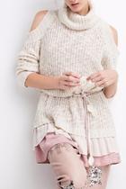Ruffled Chunky Sweater