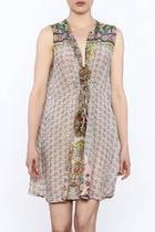 Checker Print Sleeveless Dress