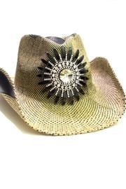 Crystal Flower Cowgirl-hat