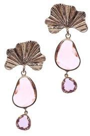 Dayanara Golden Crystal Earrings