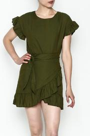 Olive Woven Dress