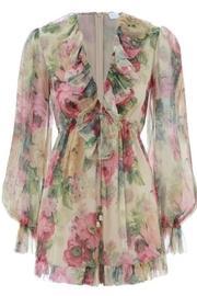 Floral Silk Playsuit