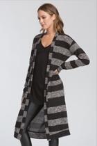 Striped Cardigan Black