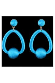 Electric Blue Thread Wrapped Earrings