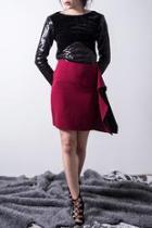Wine Pencil Skirt