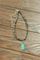 Natural Turquoise Pendant-necklace