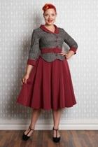 Ambre Peplum Swing-dress