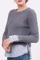 Knitted Layered Sweater