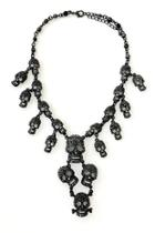 Skull Necklace/earrings Set
