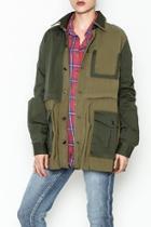 Olive Oversized Jacket