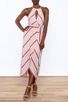 Red Stripe Sleeveless Dress