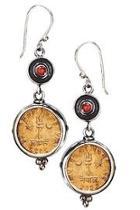 Shiva Coin Earring