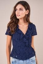 Chantilly Lace Wrap Top