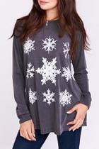 Snowflake Long Sleeve Top
