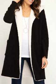 Hooded Shearling Fleece Coat