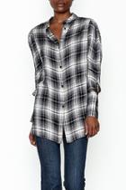 Plaid Choker Shirt