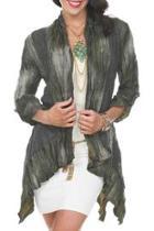 Olive Crinkled Jacket