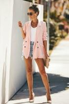 Pretty In-pink Blazer