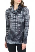 Print Cowl Neck Tunic