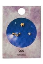 Aquarius Zodiac Stud
