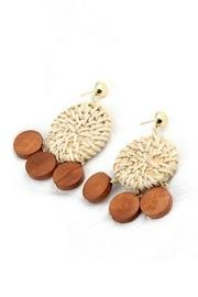 Rattan & Wood Earrings