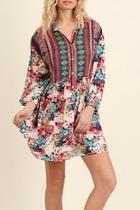 Berry Bohemian Dress