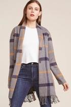 Fringe Plaid Coat
