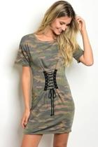 Laceup Camouflage Dress