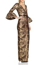 Sleeve Column Gown