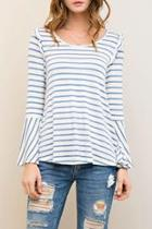 Stripes & Ruffles Top