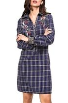 Embroidered Plaid Tunic/dress