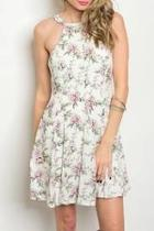 Lila Floral Sleeveless Dress