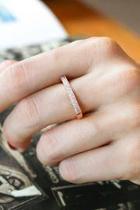 Rose Gold Pave Ring