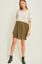 Olive Colorblock Dress