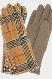 Button Plaid Glove