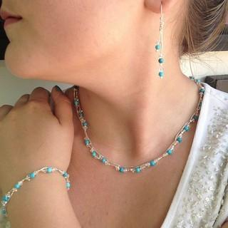 Turquoise And Swaroski Necklace