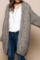 Chunky Cable Knit-cardigan