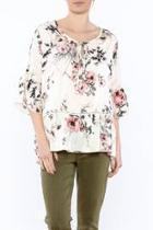 Off-white Floral Blouse