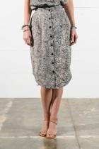 Buttonfront Midi Skirt