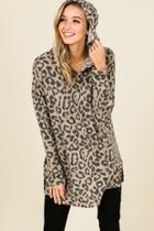 Leopard Hooded Top