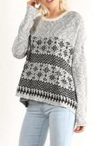 Patterned Pullover Sweater
