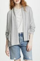 Brushed-knit Shawl Cardigan