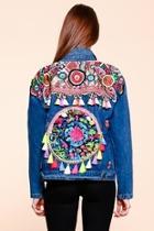 Floral-tassel Embroidered Jacket