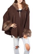 Faux Fur Hooded-cape