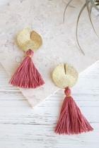 Disc-n-tassel Earrings
