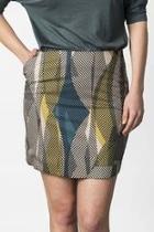 A Line Patterned Skirt