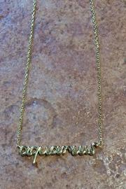 Zodiac Script Necklaces