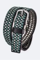 Distress Studded Leather-belt