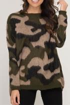 Camo Print Sweater