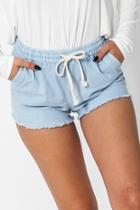 Drawstring Fray Short